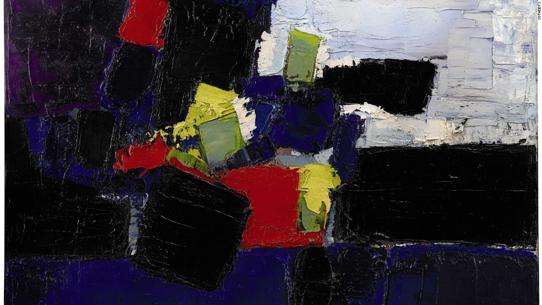 "Nicolas de Stael ""Footballeurs"" may appear abstract, but it actually depicts the first ever match played under floodlights in France in 1952."