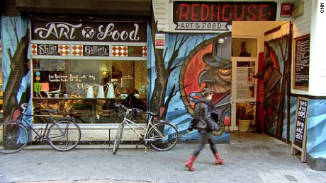 Visiting for a cuppa may lead to buying a comfy sofa at Red House Art & Food.