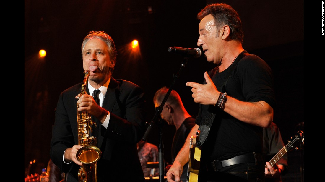 Stewart hosted the 2013 MusiCares gala honoring fellow New Jersey native Bruce Springsteen. Stewart has credited the Boss with making him feel less like a loser.