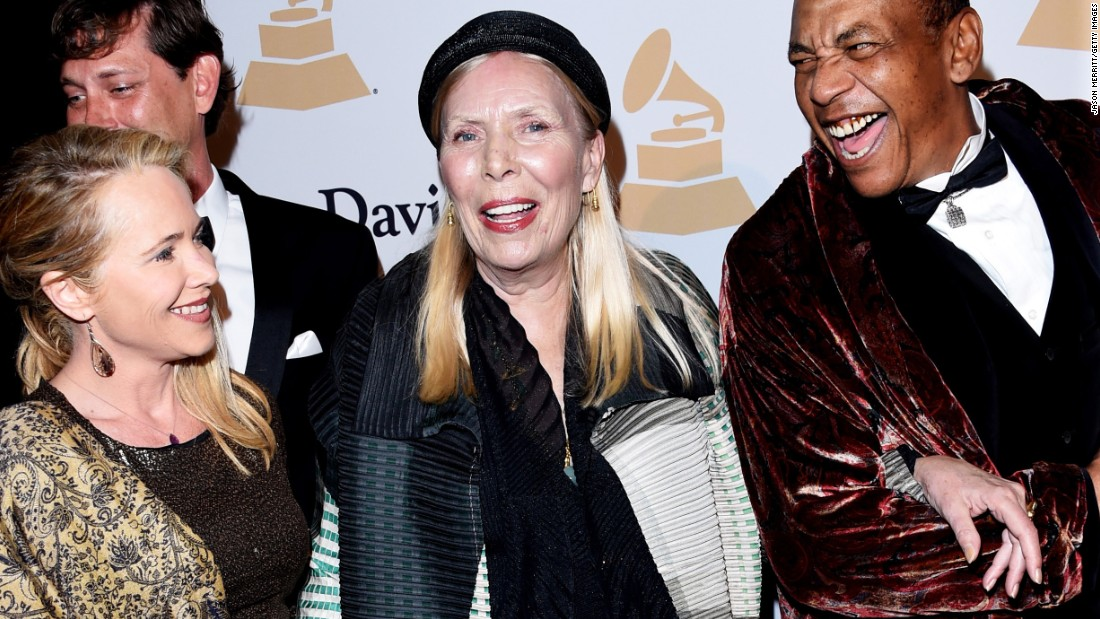 "Canadian singer-songwriter Joni Mitchell, center, told <a href=""http://nymag.com/thecut/2015/02/joni-mitchell-fashion-muse.html#Q5UmAd:KKz"" target=""_blank"">New York magazine</a> in 2015 that she's appeared as a black man on one of her album covers. ""I really feel an affinity because I have experienced being a black guy on several occasions."""