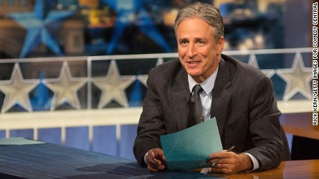 "AUSTIN, TX - OCTOBER 28:  Host Jon Stewart at ""The Daily Show with Jon Stewart"" covers the Midterm elections in Austin with ""Democalypse 2014: South By South Mess"" at ZACH Theatre on October 28, 2014 in Austin, Texas.  (Photo by Rick Kern/Getty Images for Comedy Central)"