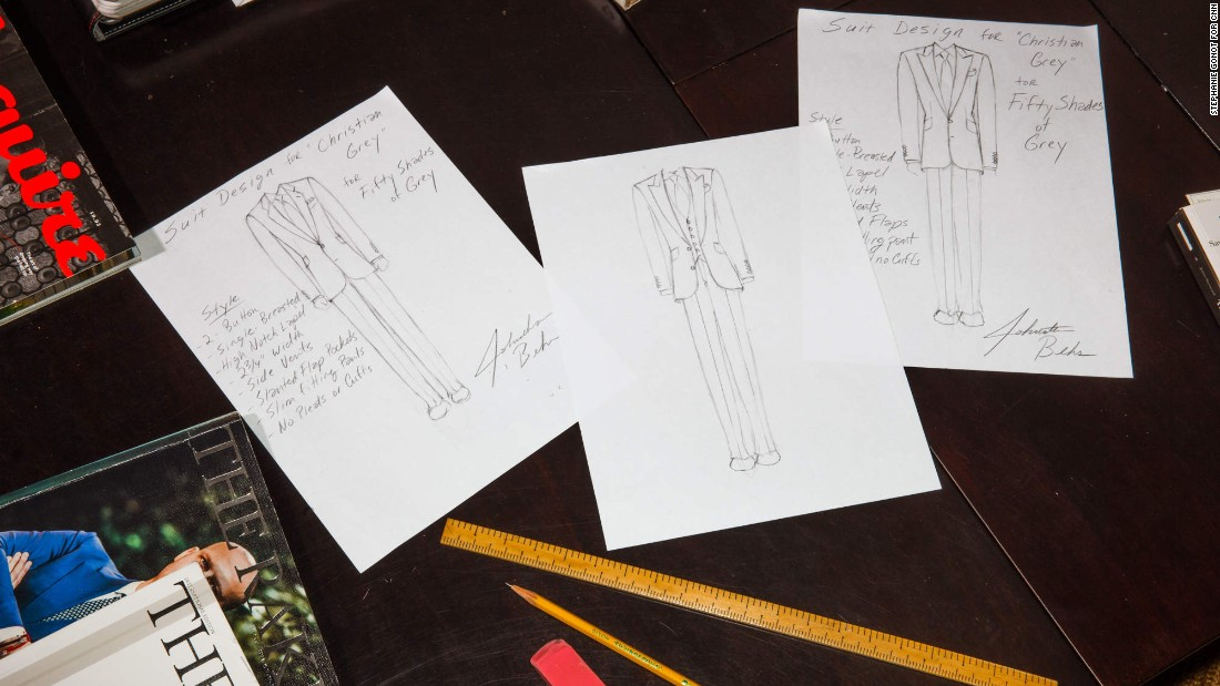 """Behr displays a few of his hand-drawn sketches from the """"Fifty Shades of Grey"""" project."""