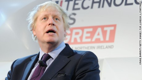 NEW YORK, NY - FEBRUARY 11: The Mayor of London Boris Johnson looks on as he competes with Arianna Huffington in a transatlantic tech challenge at an event hosted by London's Mayor to promote collaboration between New York and the British capital on February 11, 2015 in New York City. (Photo by Craig Barritt/Getty Images for London & Partners)