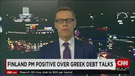 exp Finland PM positive over Greek debt talks_00002001.jpg