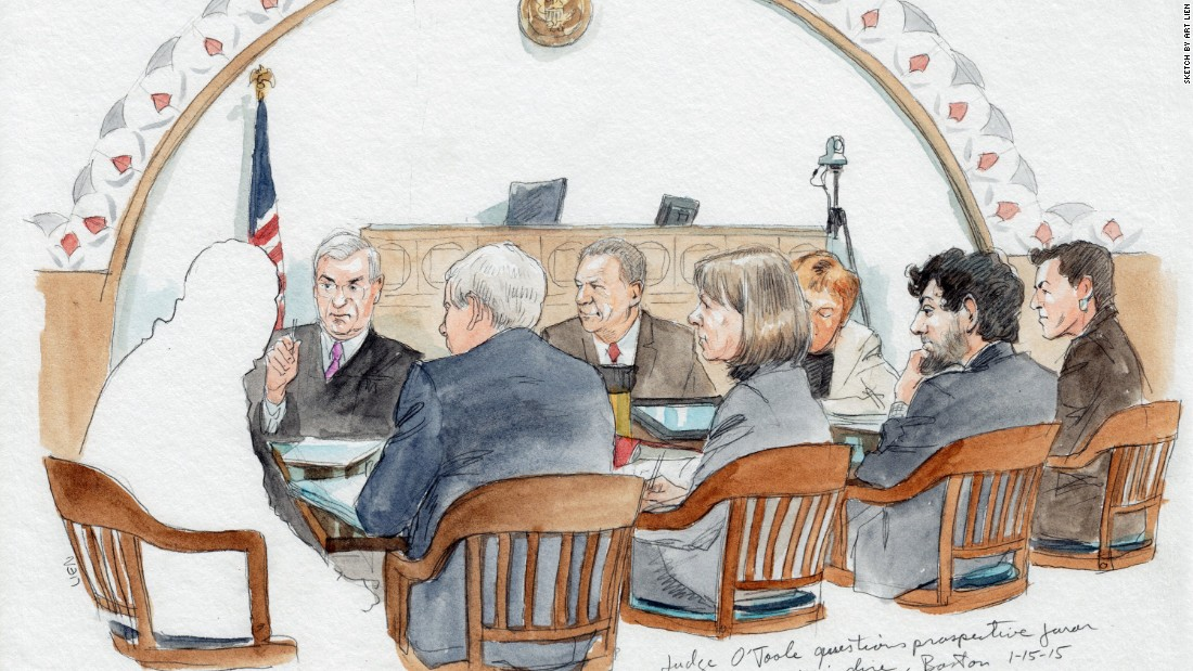 Jury selection in the trial of accused Boston Marathon bomber Dzhokhar Tsarnaev has taken longer than the judge had expected. For several weeks, prospective jurors have each taken a turn in the hot seat, being questioned by U.S. District Judge George A. O'Toole and attorneys for the prosecution and defense, as Tsarnaev, second from right in this court sketch, listened. But this case isn't the longest jury selection ever, by far. Although no one appears to keep official records on such matters, several infamous cases over the years have taken months to pick a jury, and longtime jury consultant Jo-Ellan Dimitrius recalls one jury selection that took the better part of a year. Click through the gallery to learn more: