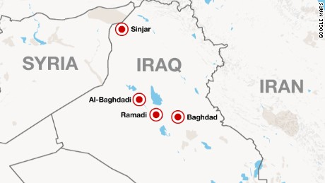 US Copters Support Iraqis Fighting ISIS CNN - Map of us bases in iraq