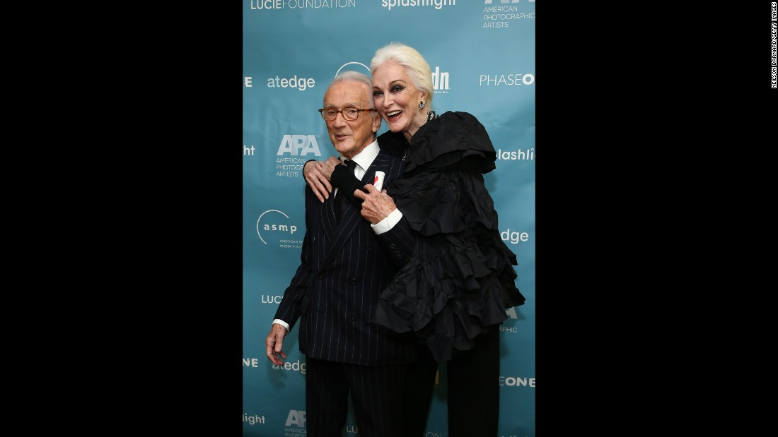 "Dell'Orefice and photographer Victor Skrebneski, winner of the Lucie award for ""Outstanding Achievement in Fashion,"" attended the 11th Annual Lucie Awards at Zankel Hall, Carnegie Hall on October 27, 2013 in New York."
