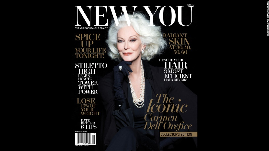 Model Carmen Dell'Orefice, 83, graces the cover of New You magazine, on newsstands now.