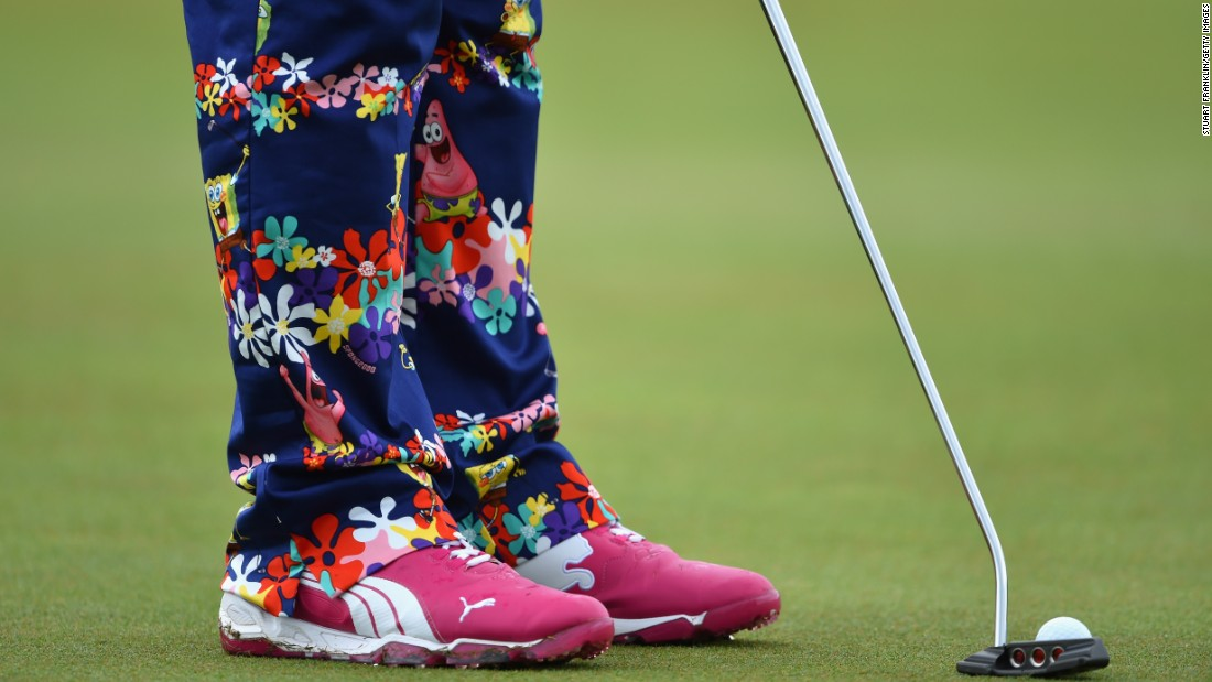 Daly is in partnership with Loudmouth Golf and has become renowned for the jaunty gear he wears out on the golf course.