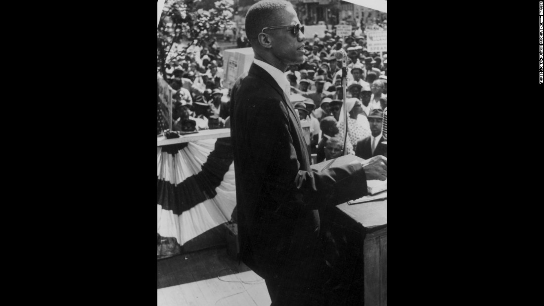 Malcolm X would frequently speak on street corners in Harlem and preach to crowds.