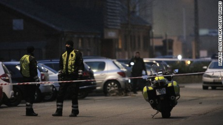 Policemen secure the area around a building in Copenhagen, Denmark, where shots were fired on February 14, 2015 outside the venue of a debate held on Islam and free speech. According to Danish media, the French ambassador to Denmark attended the discussion. Unidentified assailants fired on a building where the debate was being held, the French ambassdor to Denmark told AFP from inside the venue. Reports said that Swedish artist Lars Vilks, the author of controversial Prophet Mohammed cartoons published in 2007 that sparked worldwide protests, was also at the debate. AFP PHOTO / MARTIN SYLVEST / SCANPIX DENMARK +++ DENMARK OUT (Photo credit should read MARTIN SYLVEST/AFP/Getty Images)