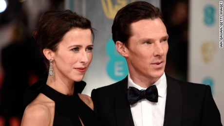 LONDON, ENGLAND - FEBRUARY 08: Sophie Hunter and Benedict Cumberbatch attend the EE British Academy Film Awards at The Royal Opera House on February 8, 2015 in London, England. (Photo by Ian Gavan/Getty Images)