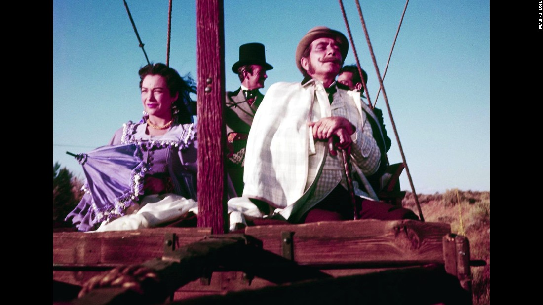 """Responding to the competition from TV, the movies turned increasingly to epics in the 1950s such as producer Mike Todd's """"Around the World in 80 Days."""" The picture  was based on Jules Verne's novel and starred Shirley MacLaine, David Niven and Cantinflas as well as dozens of other celebrities in cameo roles, such as Noel Coward, Marlene Dietrich, Red Skelton and Frank Sinatra."""