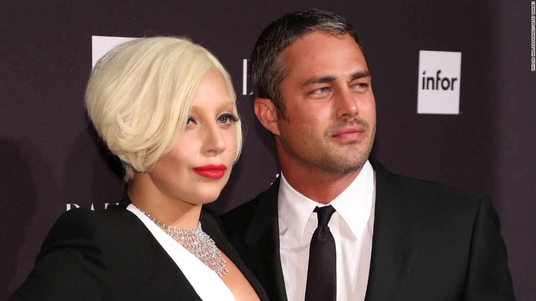 "Lady Gaga and actor Taylor Kinney got engaged on Valentine's Day 2015. The ""Bad Romance"" singer announced the engagement by showing off a picture on her <a href=""http://instagram.com/p/zLTE0fJFNd/?modal=true"" target=""_blank"">verified social media accounts</a> of a heart-shaped engagement ring. ""He gave me his heart on Valentine's Day, and I said YES!"" she said."