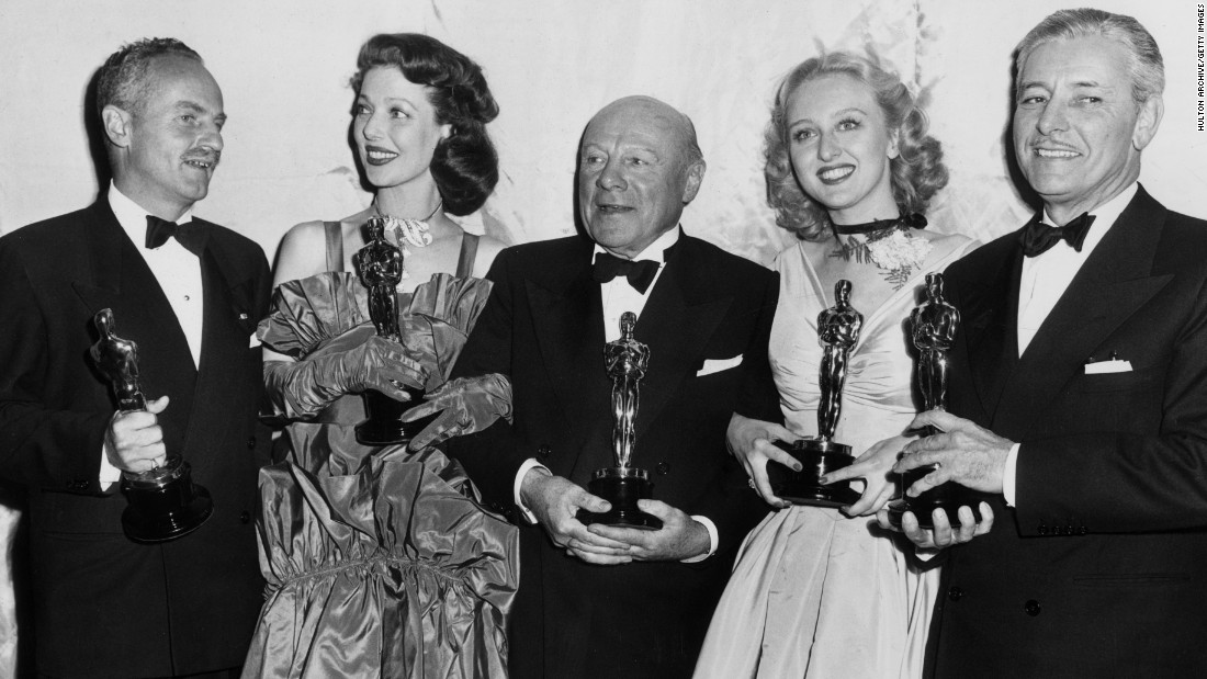 "Loretta Young, second from left, won the best actress Oscar in 1948 for her role in ""Farmer's Daughter."""