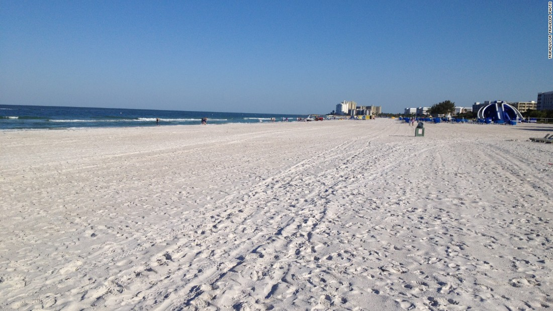 St. Pete Beach in Florida is the No. 2 beach on the U.S. list. The Inn on the Beach is a nice value option for a getaway this winter, with rates starting at $174 a night on TripAdvisor.