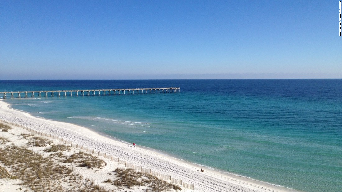 No. 5 on the U.S. Travelers' Choice list, Florida's Pensacola Beach boasts miles of powdery sand.