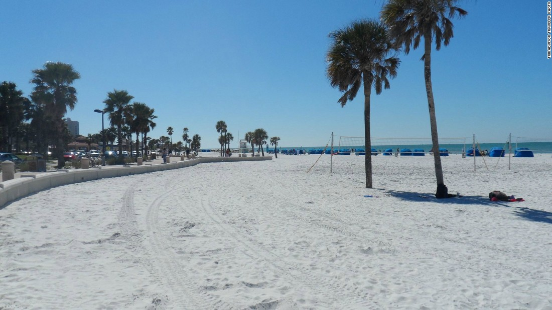 Clearwater Beach in Florida comes in at No. 8 on the U.S. beaches list. Rates at the Ebb Tide Waterfront Resort start at $189 on TripAdvisor over the next two months.