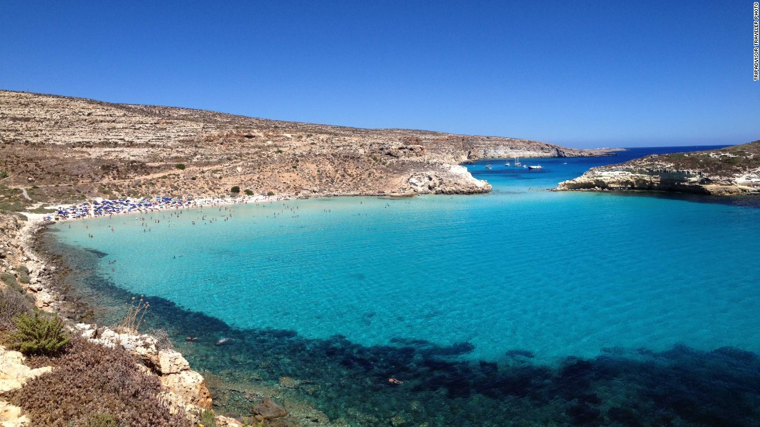 Rabbit Beach on the Italian island of Lampedusa moved up one spot from 2014 to become the No. 3 beach in the world, according to this year's Travelers' Choice list. Visit from May to September for the best swimming weather.