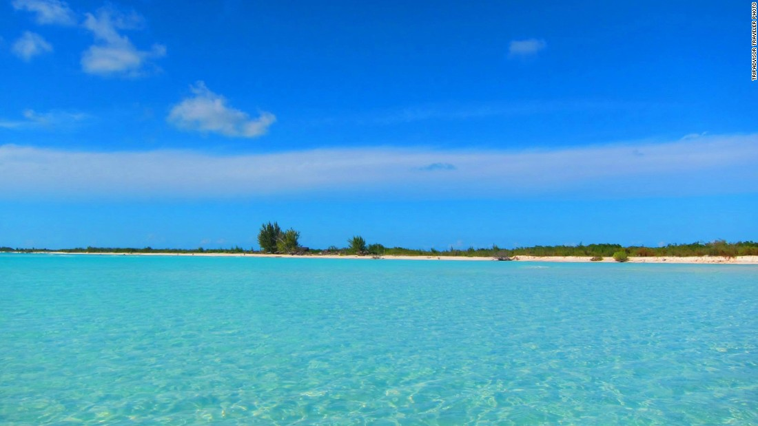Playa Paraiso in Cayo Largo, Cuba, moved up from No. 11 last year.