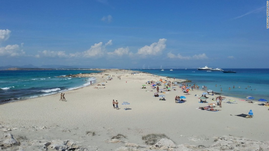 Playa de Ses Illetes is on the Balearic Island of Formentera. Get there early in the summertime to avoid crowds.