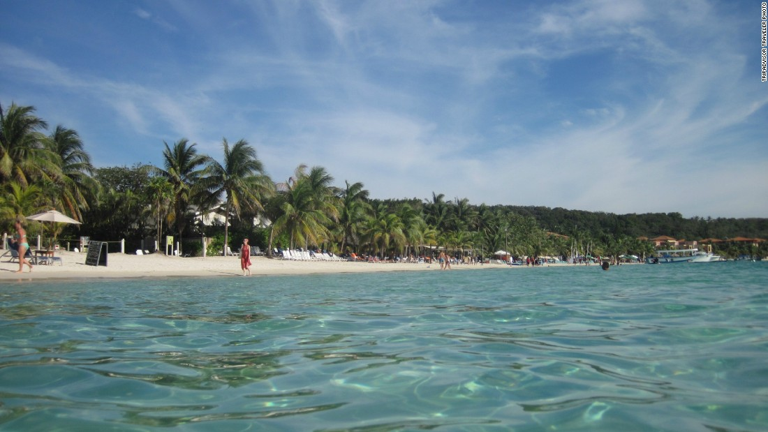 West Bay Beach in Honduras is No. 15 on the Travelers' Choice list.