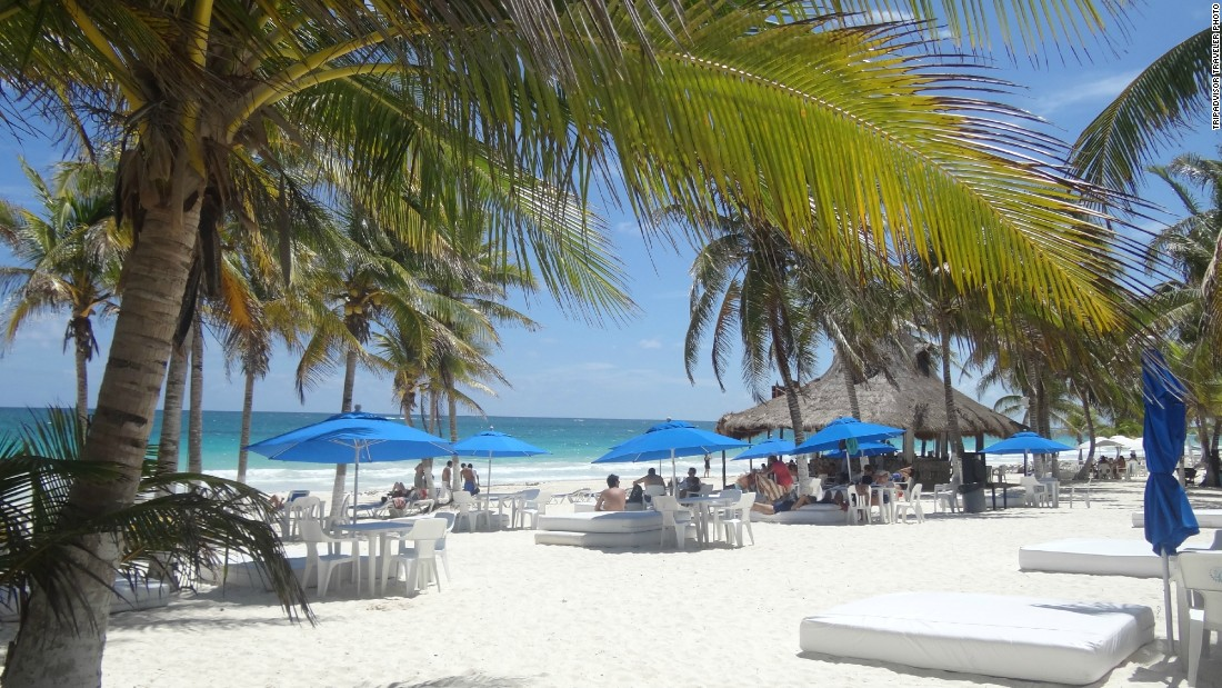 Located near the Tulum ruins, Playa Paraiso offers visitors a chance to stretch out and relax.