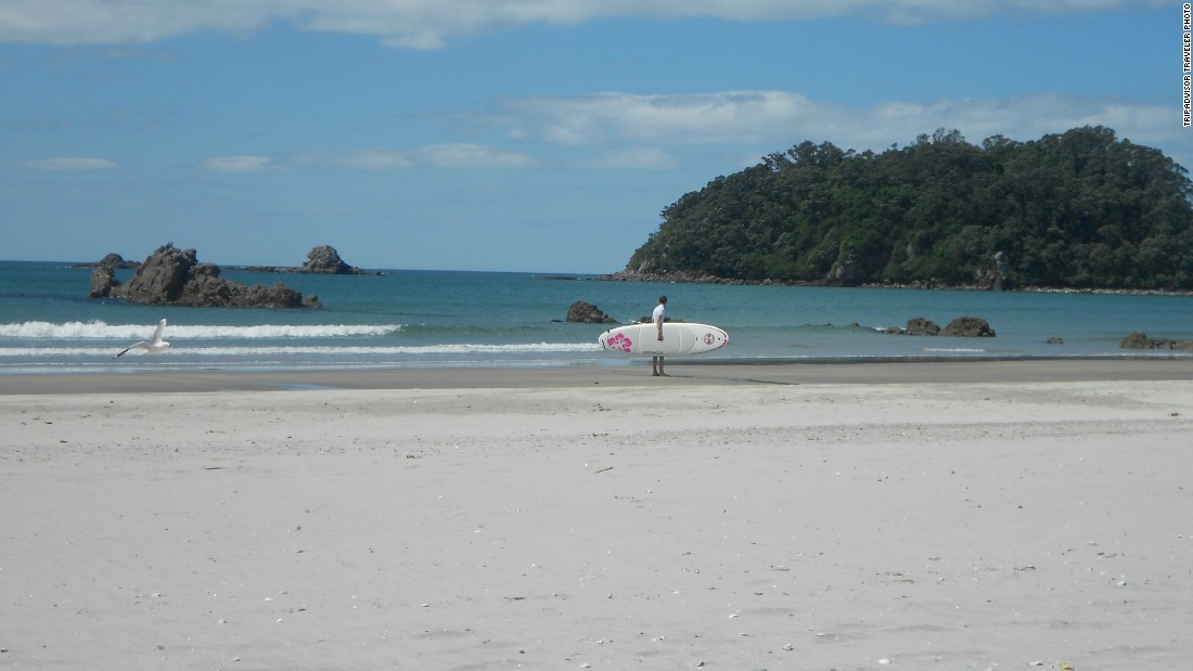 Maunganui Beach in Mount Maunganui, New Zealand, rounds out the top 25 Travelers' Choice best beaches in the world.