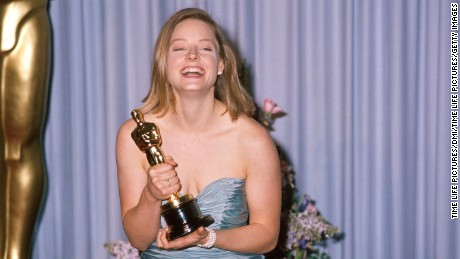 Actress Jodie Foster holding her Oscar in Press Room at Academy Awards.  (Photo by Time Life Pictures/DMI/Time Life Pictures/Getty Images)