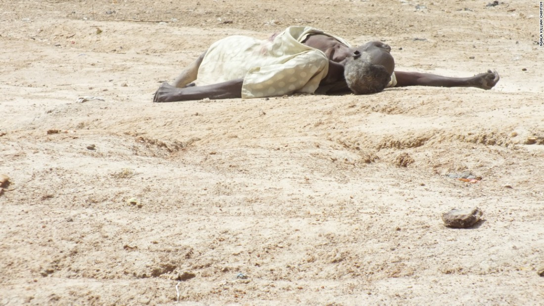 This picture shows a suspected Boko Haram insurgent who crossed the El Beid River in an attempt to infiltrate Cameroon.