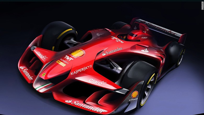ferrari has revealed its concept for a radical redesign of a formula one car on its