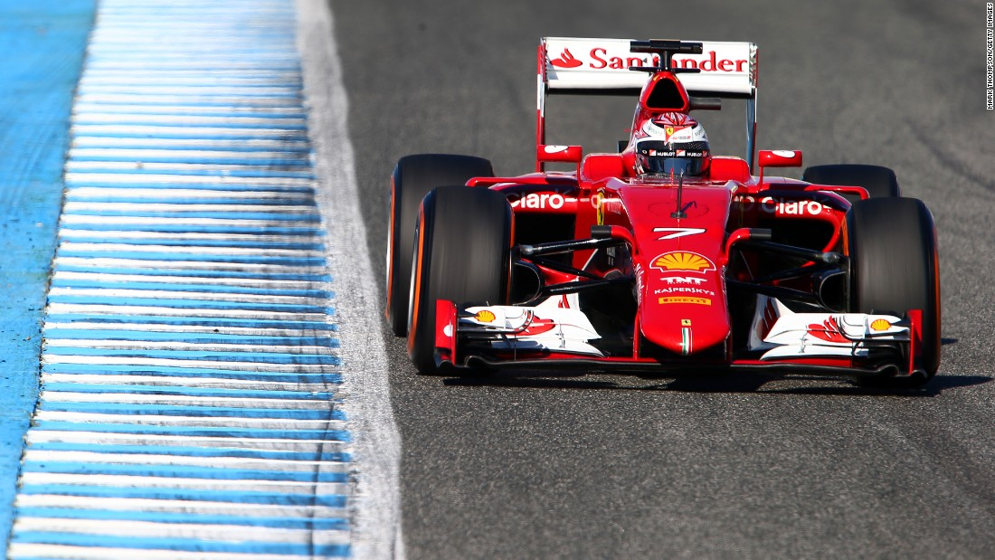 Ferrari debuted its design for the SF15-T racer, which carries the team's fortunes for the 2015 season, at the first winter test in Jerez, Spain.