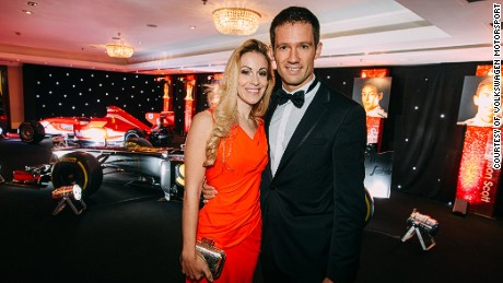 Happy couple: Ogier married German TV presenter Andrea Kaiser last year.