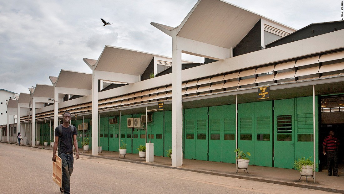 "For Kwame Nkrumah, Ghana's first president, education was a priority, says Herz.<br />""Nkrumah was singularly pushing this issue, so we see the construction of a tremendous amount of schools and universities at this time,"" he notes, all of which have what was then a heightened, modernist aesthetic. <br />""The KNUST campus really represent a purity of modern architecture,"" he adds."