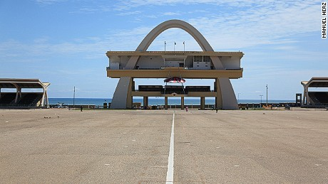 Designed by the Public Works Department, Independence Arch was built in 1961 to put Ghana on the world stage.