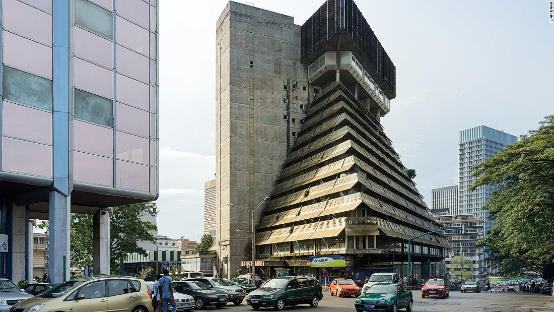 "Designed by Italian architect Rinaldo Olivier, La Pyramide was celebrated as one of the Ivory Coast's most impressive structures at the time of its completion.<br /> ""It was meant to recreate the liveliness of the traditional Ivorian marketplace, consciously (designed) in contrast to the sterile modern architecture that preceded it at this time,"" says Herz. Sadly, he notes, those aspirations never came to pass.<br />""Economically, it was never viable, and it's now gutted,"" he says."