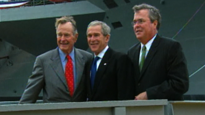Jeb bush with brother George W. Bush and Father George H.W. Bush