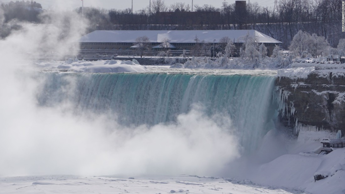 "The National Weather Service said <a href=""http://www.cnn.com/2015/02/19/travel/feat-great-lakes-niagara-falls-frozen/index.html"">extremely cold Arctic</a> air may allow for expansion of the ice across the falls."
