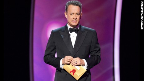 Tom Hanks at the Academy Awards in the Kodak Theatre in Hollywood in 2011.