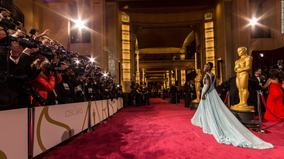Lupita Nyong'o attends the Oscars at Hollywood & Highland Center in March 2014.