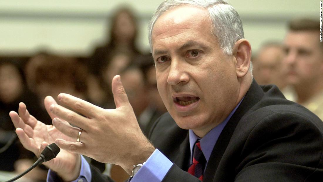 Netanyahu testifies before the U.S. House Government Reform Committee on September 20, 2001. The committee was conducting hearings on terrorism following the September 11 attacks.