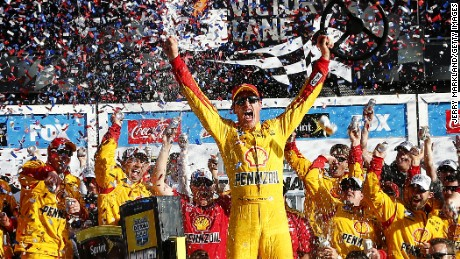 Joey Logano won last year's NASCAR Sprint Cup Series Daytona 500 at Daytona International Speedway.