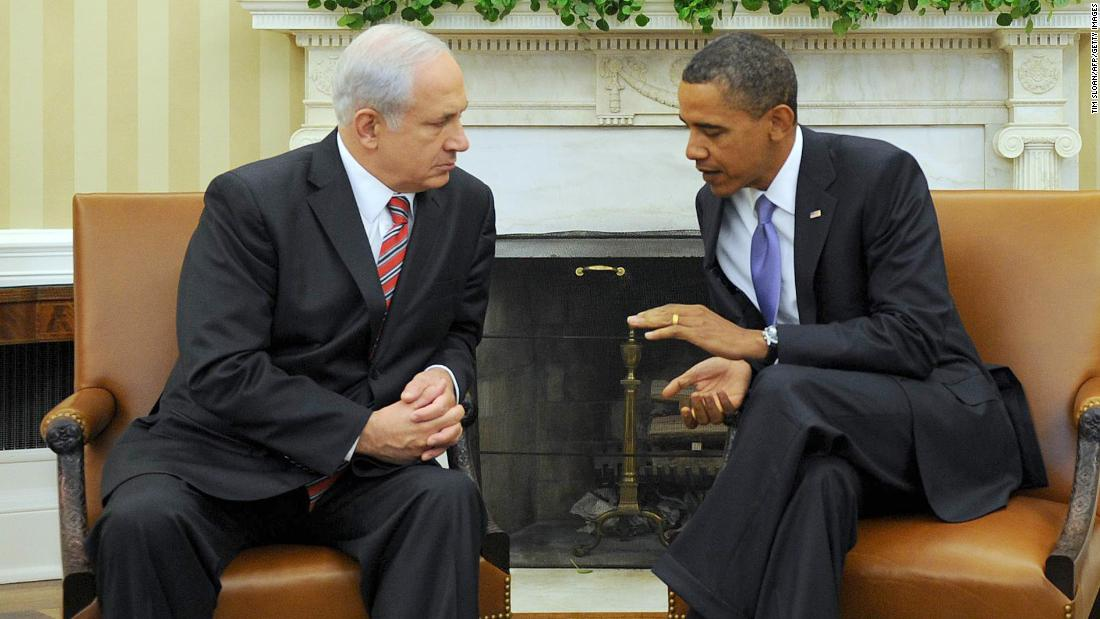 Obama meets with Netanyahu at the White House in September 2010.