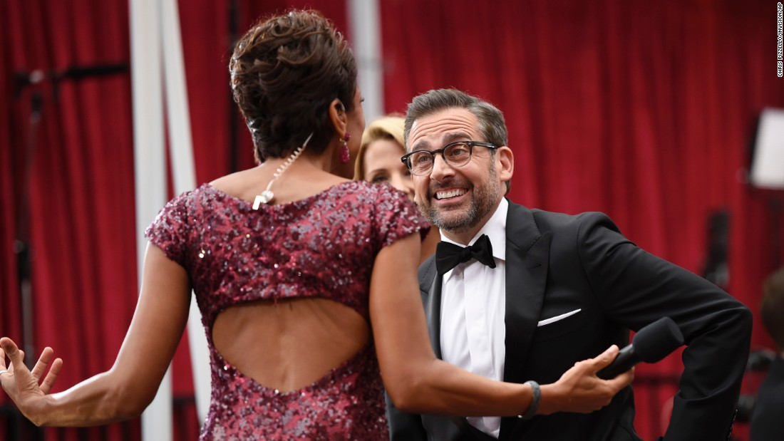 Robin Roberts and Steve Carell