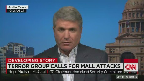exp Rep. McCaul on Terror Group threat of Mall attack_00002001