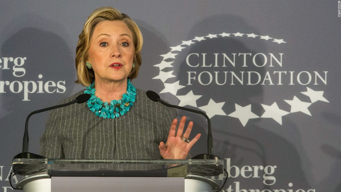The Democratic 2016 candidate is pictured here speaking to the press about a new initiative between the Clinton Foundation, the U.N. Foundation and Bloomberg Philanthropies in New York City on December 15, 2014. The Clinton Foundation confirmed on May 21, 2015, that it received as much as $26.4 million in previously unreported payments from foreign governments and corporations for paid speeches by the Clintons. It's the latest in a string of admissions from the foundation that it didn't always abide by a 2008 ethics agreement to disclose its funding sources publicly. According to foundation officials, the income -- at least $12 million and as much as more than twice that -- was not disclosed publicly because it was considered and tallied for tax purposes as revenue, rather than donations.