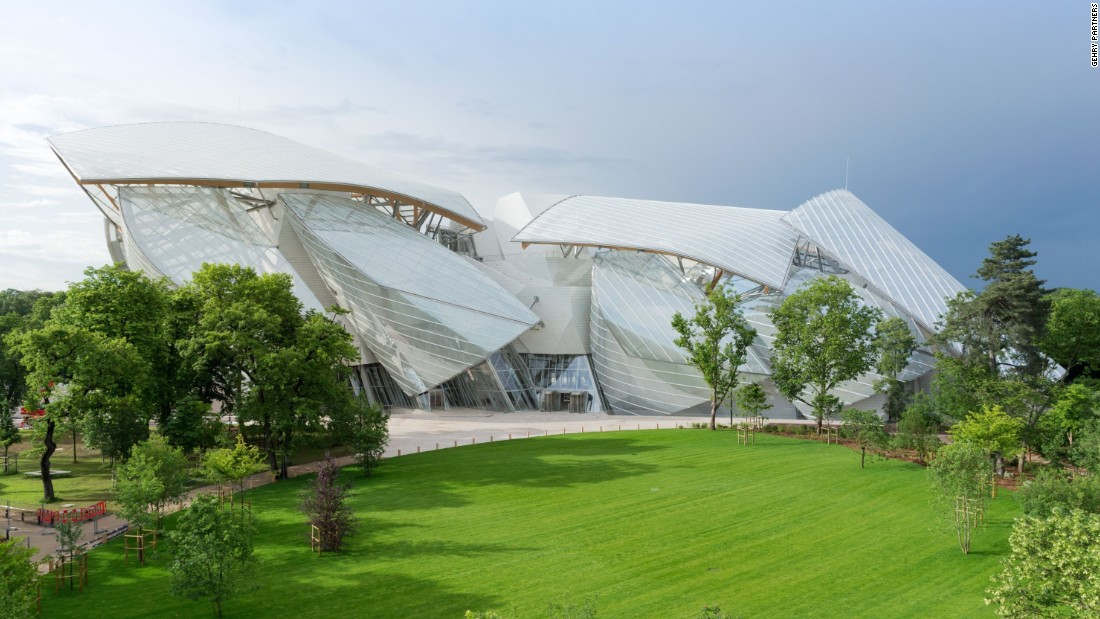 "<a href=""http://www.fondationlouisvuitton.fr/"" target=""_blank"">Fondation Louis Vuitton</a> is the latest project from star architect Frank Gehry. It houses temporary displays, a permanent art collection and concerts in a 'glass cloud' of 12 curved sails that emerge from the Bois de Boulogne in Paris. The building's distinctive shape has been made using over 3000 curved and fritted glass panels."