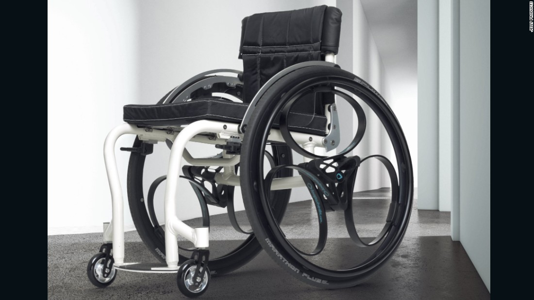 "<a href=""http://www.loopwheels.com/"" target=""_blank"">Loopwheels</a> have an internal shock absorption system allowing bicycles and wheelchairs to spontaneously adjust to the terrain. The design, by Sam Pearce for Jelly Products, is hoped to provide people with mobility issues greater freedom."