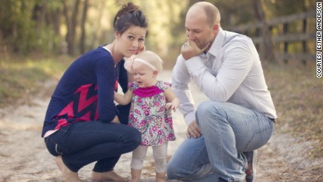 Esther and Thad Anderson with daughter Ellia.
