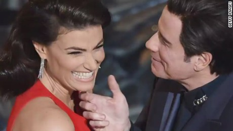 John Travolta doubles down on his awkward Oscars moment